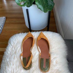 Zara Pointed Toe Sling Back Flats - 38